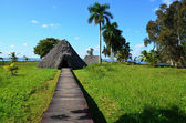 Guam - Indian village - the chief's hut in Cuba — Stock Photo