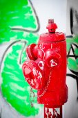 Red Fire hydrant — Stockfoto