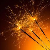 Fireworks sparklers — Stock Photo