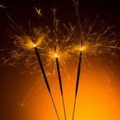 Christmas sparklers — Stock Photo