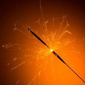 Burned sparkler — Stock Photo