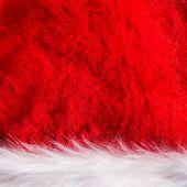 Santa Claus hat texutre — Stock Photo