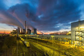 Lignite Power Plant on sunset — Photo