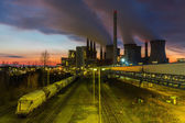 Coal power station at sunset — Photo