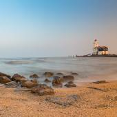 Lighthouse at the beach  — Stock Photo