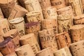 Wine corks in rows — Stock Photo