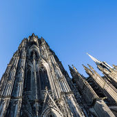 Cologne cathedral side view — Stock Photo