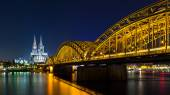Cologne Cathedral at night — Stock Photo