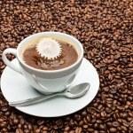 Latte with drop impact Liquid Art — Stock Photo #69770519