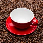 Empty red coffee cup — Stock Photo