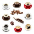 Coffee cup and coffee beans set collage — Stock Photo #69938665