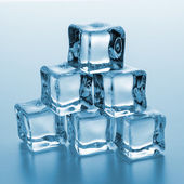 Ice cubes tower — Stock Photo