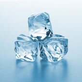 Clear ice cubes — Stock Photo