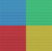 Vector seamless knitted pattern background — Stock Vector