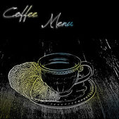 Coffee menu design with a cup — Cтоковый вектор