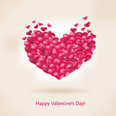 Happy valentines day pink card — Stockvektor