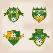 Set of Soccer Football Badge Logo Design — Stock Vector