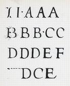 Vintage calligraphy alphabet — Stock Photo