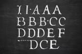 Blackboard with alphabet — Stock Photo