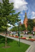 угловая башня «арсенал» в московском кремле — Стоковое фото