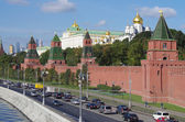 Kremlin Embankment in Moscow, Russia — Stock Photo
