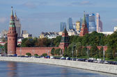 Kremlin Embankment in Moscow, Russia — Foto de Stock