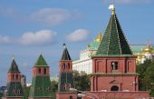Kremlin Embankment in Moscow, Russia — Foto de Stock