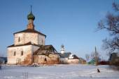 The Holy Cross Church and the Church of Cosmas and Damian in Suz — Stock Photo
