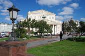 The Bolshoi Theatre in autumn day in Moscow — Stock Photo