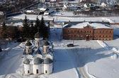 Rizopolozhensky katedralen i Rizopolozhensky kloster, Suzd — Stockfoto