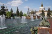 Fountain Stone Flower in Moscow — Stock Photo