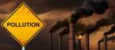Pollution road sign. — Stock Photo