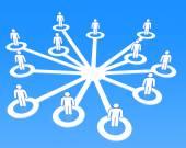 Social network concept 3D — Stock Photo