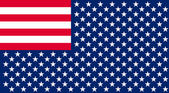 Inverted Flag of the United States. — Stock Photo