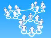 Social network groups concept 3D — Stock Photo