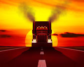 Truck moving on the road. — Stock Photo