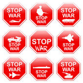 Nine signs stop war. — Stock Photo