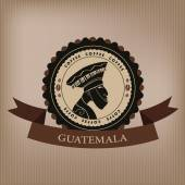 Coffee labels and elements.Guatemala. vector. — Stock Vector