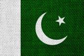 Vlajka pákistánu — Stock fotografie