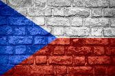 捷克共和国的旗帜 — 图库照片