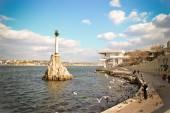 Памятник затопленным кораблям — Stock Photo