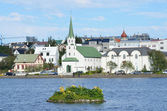 Iceland, the Free Church in Reykjavik — Stock Photo
