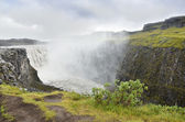 The waterfall Dettifoss on the river Icosaw-AU-Thedrum in rainy weather, Iceland — Stock Photo