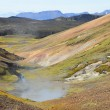 Iceland, hot springs in the mountains — Stock Photo #52486221