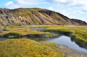 İzlanda, landmannalaugar, riolit dağlar — Stok fotoğraf