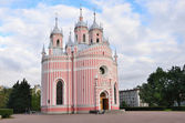 Chesmenskaya orthodox church, architect Y. M. Felten, St. Petersburg — Stock Photo