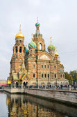 St. Petersburg,  channel of Griboedov, the cathedral Spas on the Blood — Stock Photo