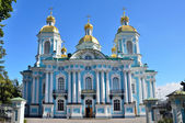 Russia, St. Nicholas naval Cathedral (Naval Cathedral of St. Nicholas the Wonderworker and Epiphany) in St. Petersburg — 图库照片