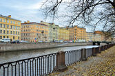 St. Petersburg, channel of Griboedov in autumn — Stock Photo
