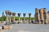 The ruins of the ancient temple of Zvartnots, Armenia — Stock Photo